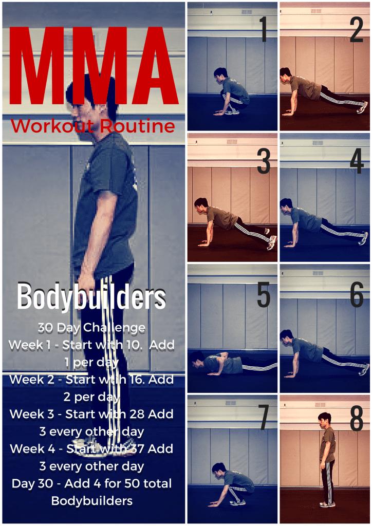 MMA Workout Routine Bodyweight exercises