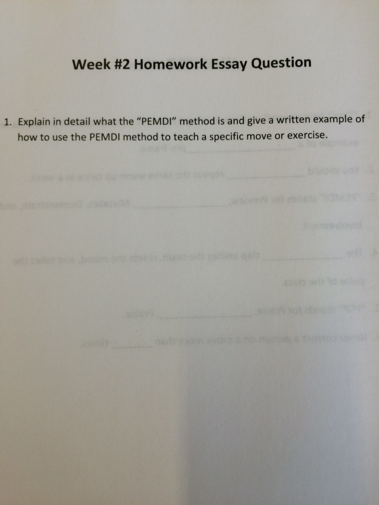 Video 2 Homework Essay