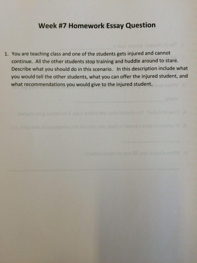 Video 7 Homework Essay